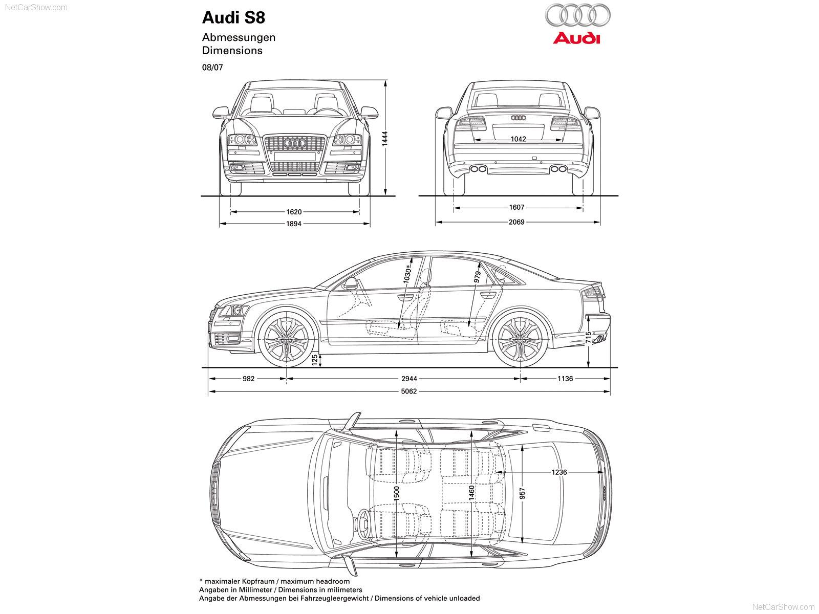 Тюнинг Audi A8, фото тюнинга Ауди А8 рестайлинг 2007 года