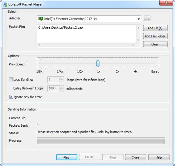 Resultado de imagen de Colasoft Packet Player Pro v2