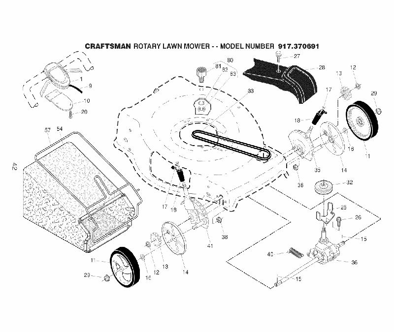 Craftsman 917.370691 Lawn Mower Owner's manual PDF View