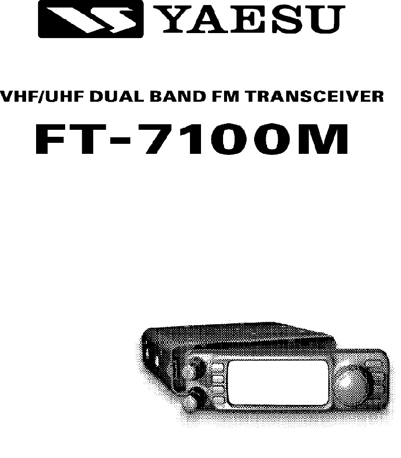Yaesu FT-7100M Transceiver Operating manual PDF View/Download