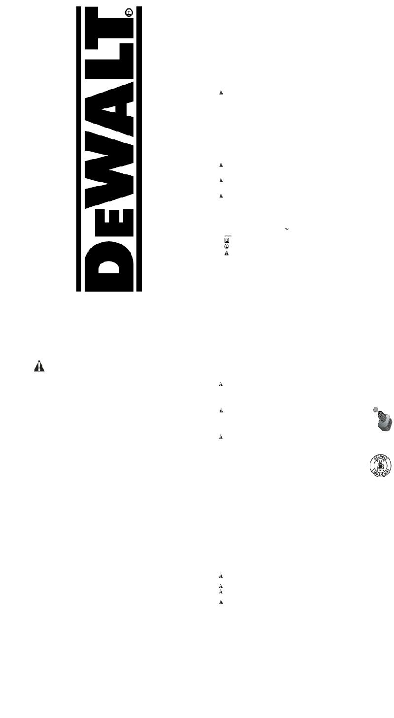 DeWalt DW050 Impact Driver Instruction manual PDF View