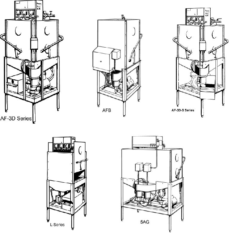 American Dish Service 5AG Dishwasher Owner's manual PDF