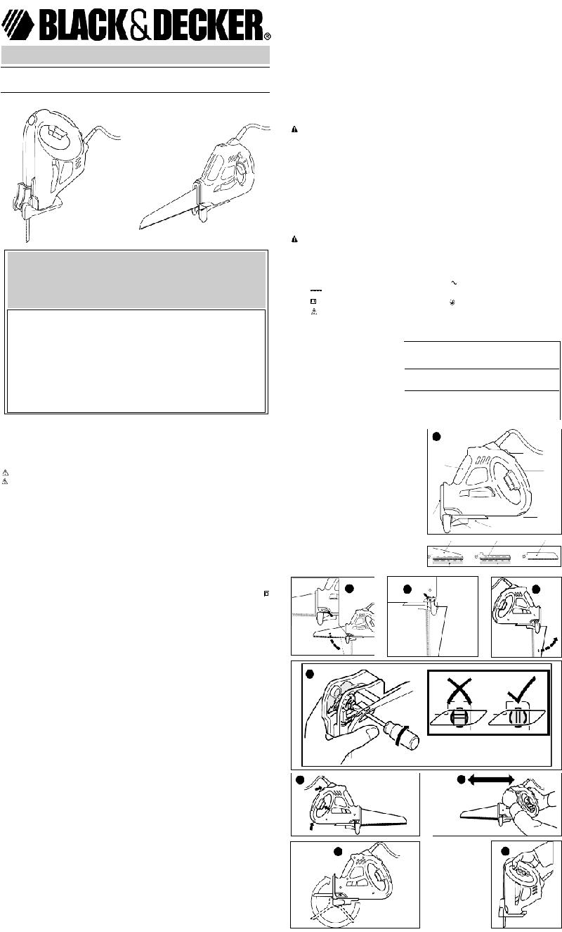 Black & Decker Navigator SC500 Saw Instruction manual PDF