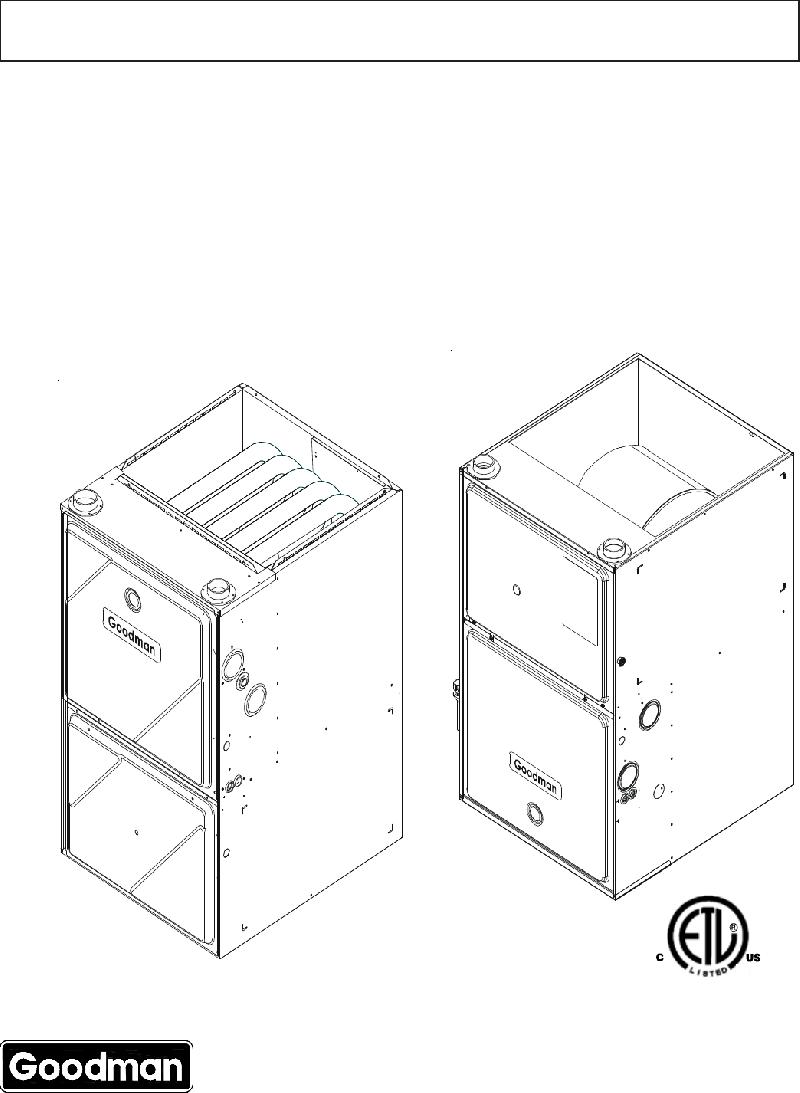 Goodman Mfg GCV90704CX* Furnace Technical information