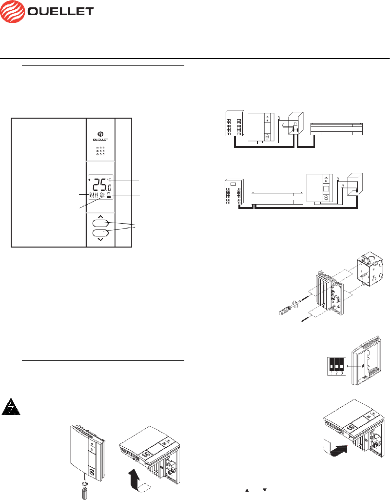 Ouellet OTH550 Thermostat Installation and user manual PDF