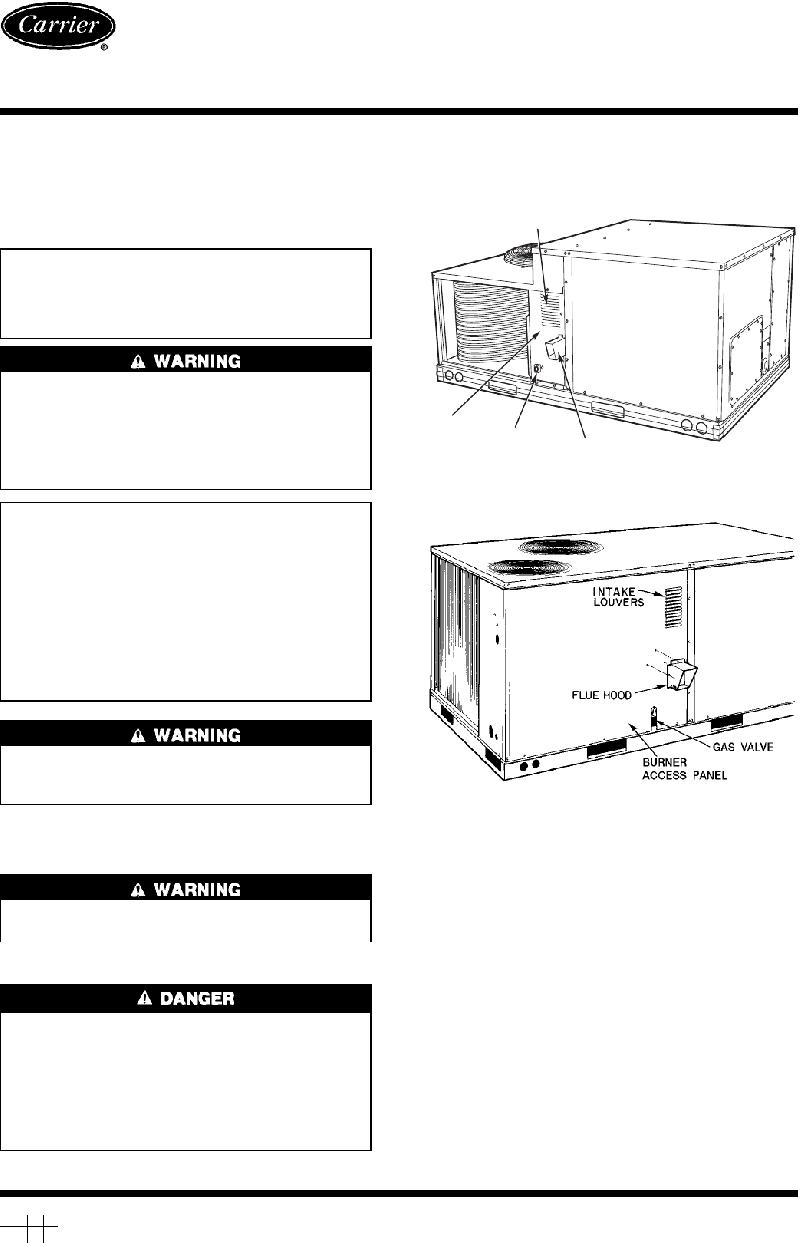Carrier 48TJD005-014 Heating System User's information