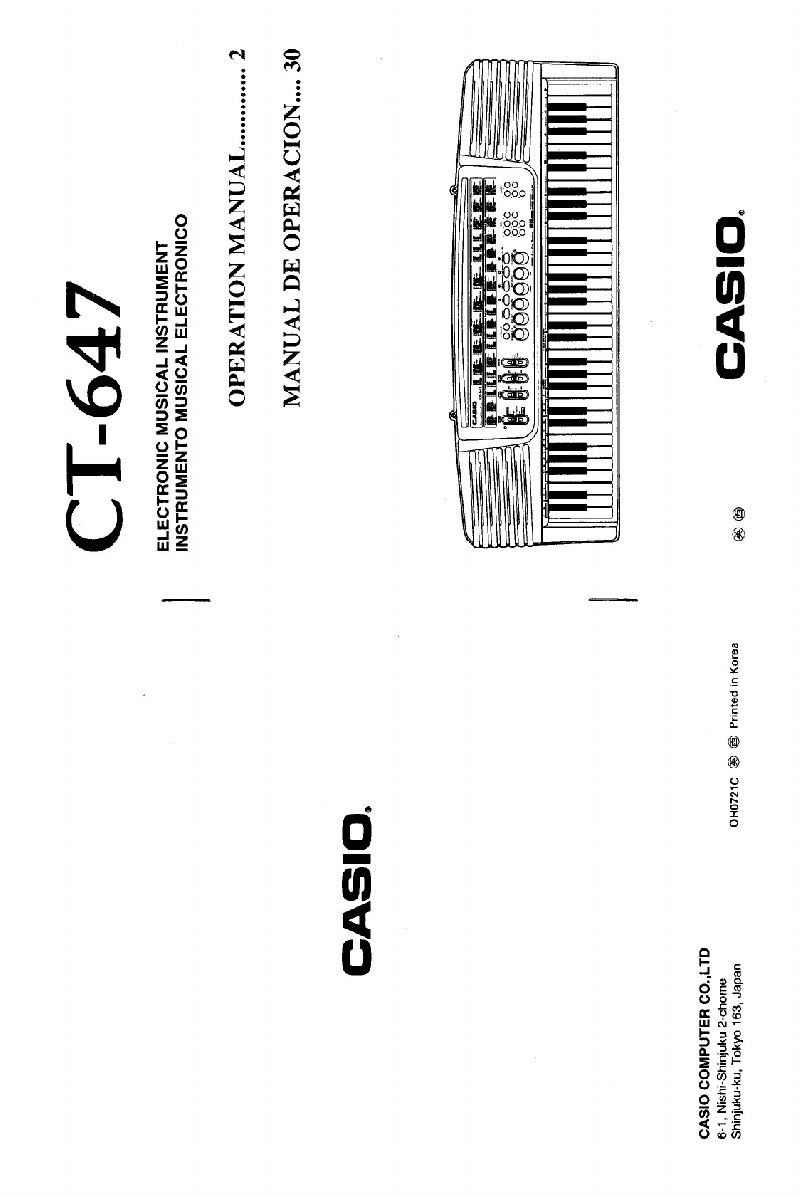 Casio CT-647 Other Operation manual PDF View/Download