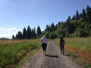 Walking the trails with the Boss! Here's to amazing wildlife and advice.