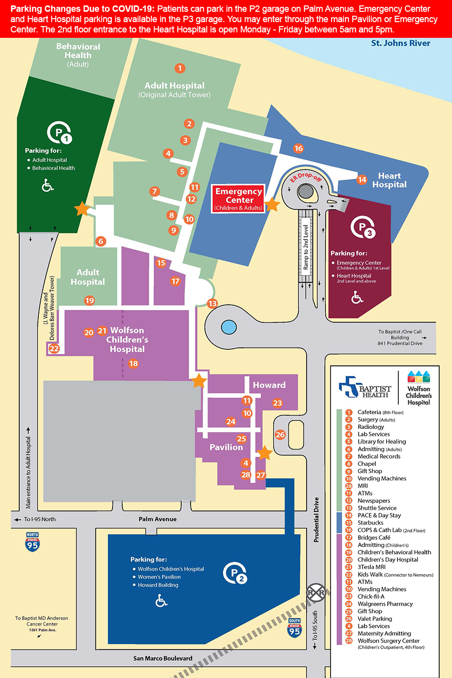 Parking and Campus Map Baptist Heart Hospital