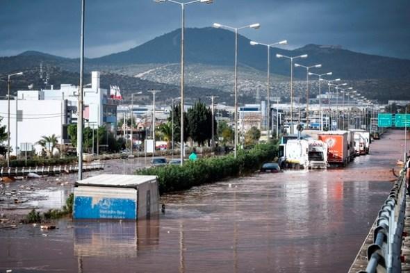 Αποτέλεσμα εικόνας για δυτικη αττικη πλημμυρες