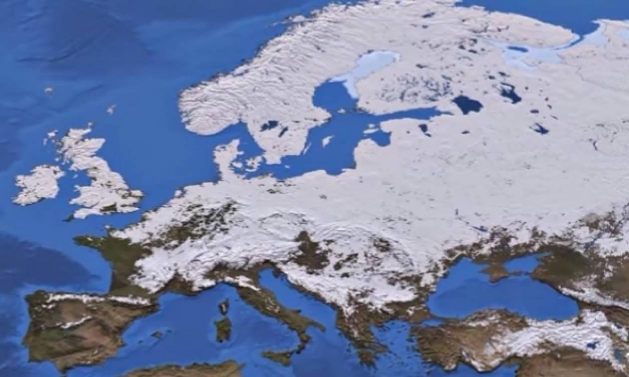 Το βίντεο που προκαλεί τρόμο: Ερχεται μεγάλος χειμώνας από το 2018... (video)