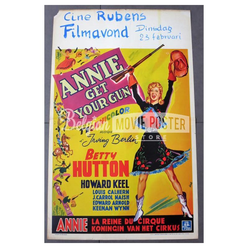 annie get your gun belgian movie poster store