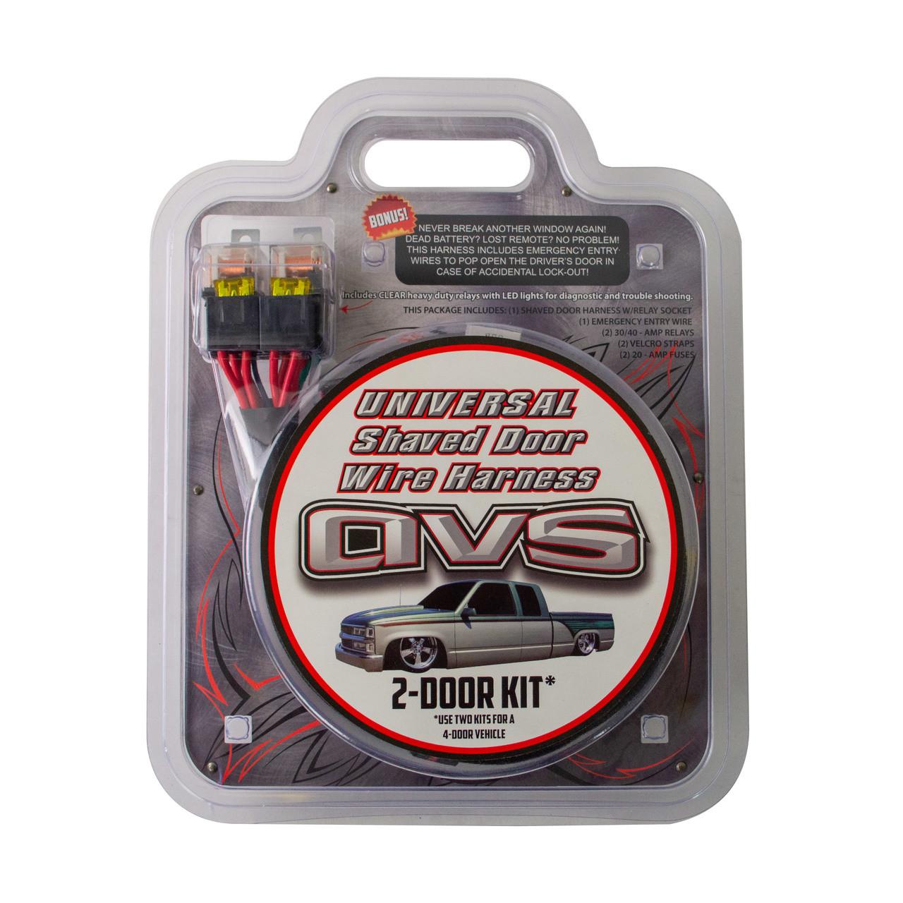 avs shaved door relay wiring harness plug n play  [ 1280 x 1280 Pixel ]