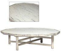 White Cottage Style Coffee Table Decagon Shape!