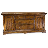 "86"" Old World Style Buffet - Rustic Spanish Style Sideboard"