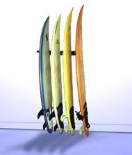 vertical surfboard wall rack quad