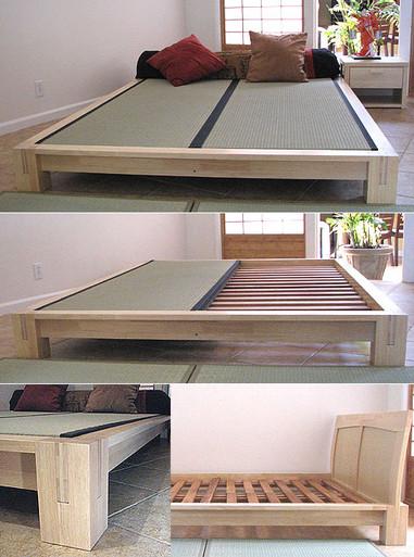 Tatami Platform Bed Natural Finish
