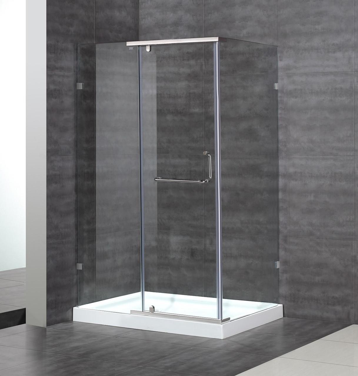 Sen975 Semi Frameless Hinge Shower Enclosure