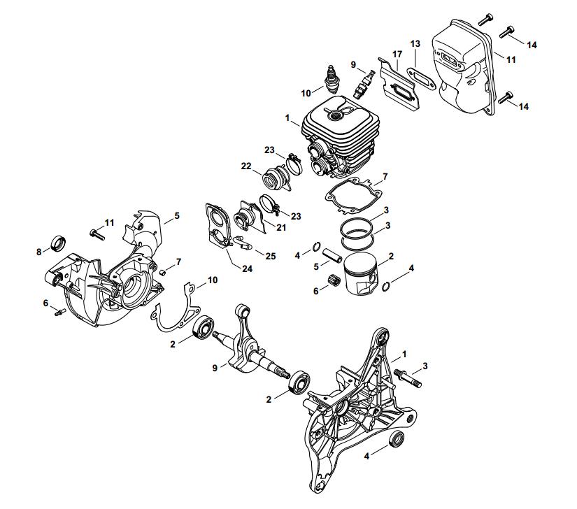 Engine Rebuild Kit  KitF   Stihl TS420   42380201202