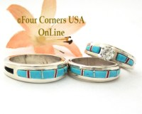 Native American Engagement Wedding Ring Sets - Turquoise ...