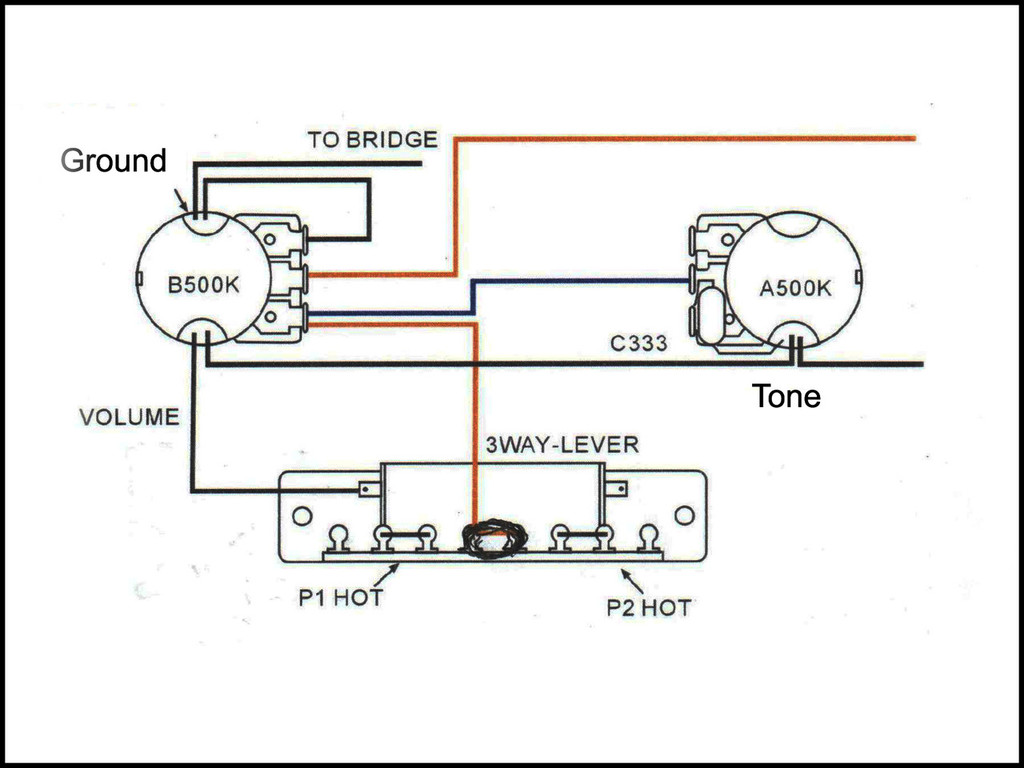 small resolution of basic 3 way guitar pickup toggle switch c b gitty 3 way switch wiring diagram 3