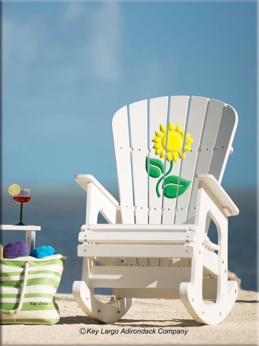 composite adirondack rocking chairs unfinished ladder back sunflower chair - key largo company