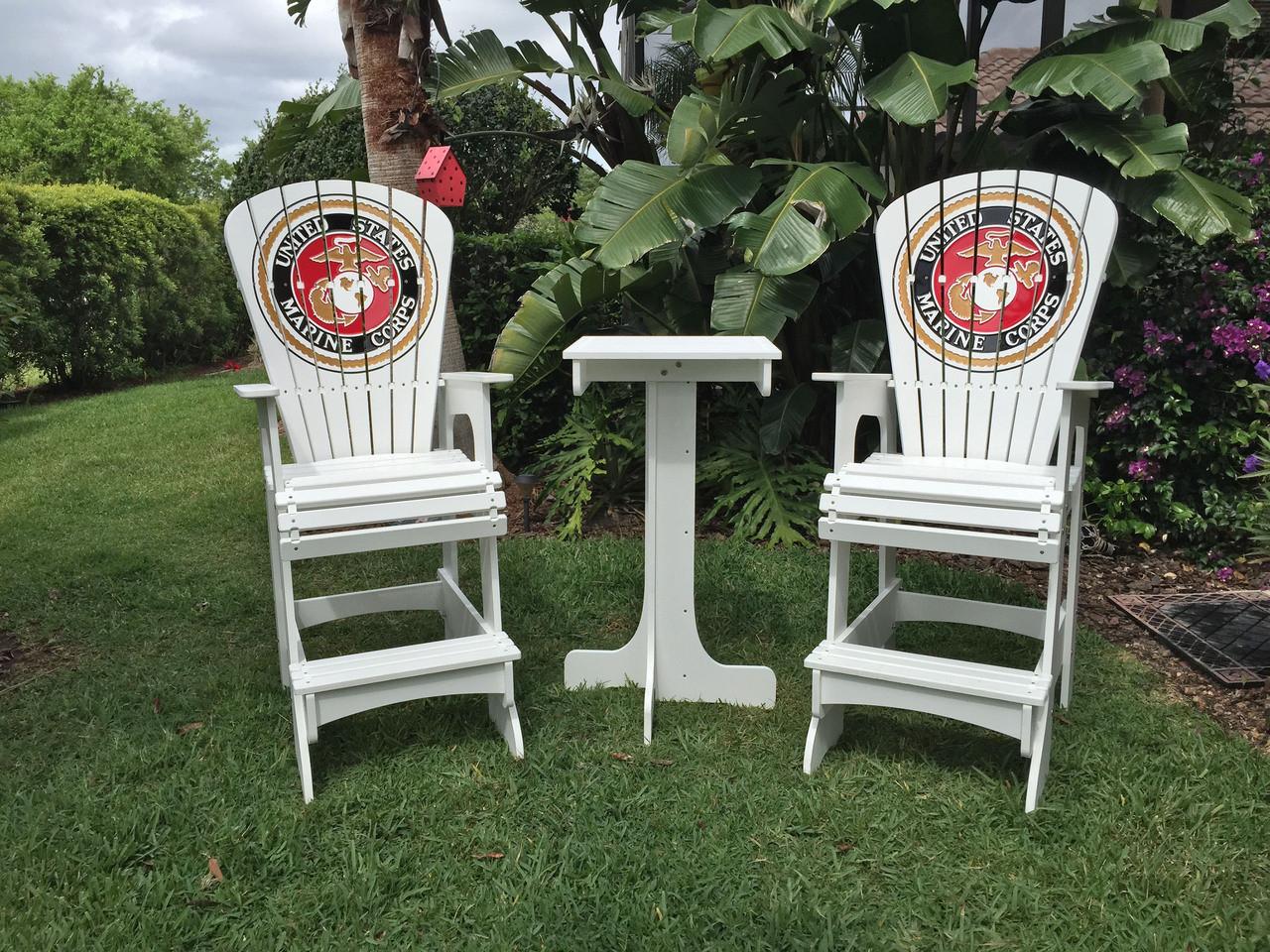 key west chairs kids ikea marine corps set largo adirondack company lifeguard