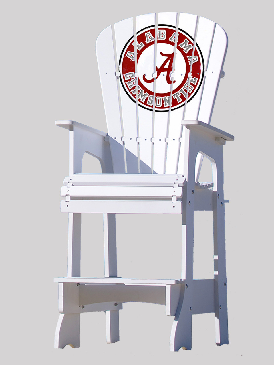 alabama rocking chair bistro chairs dining room outdoor patio lifeguard university of crimson tide key largo adirondack company