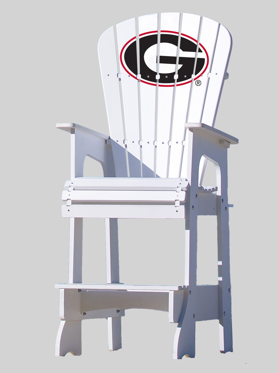 georgia chair company covers for wedding reception outdoor patio lifeguard university of bulldogs key largo adirondack