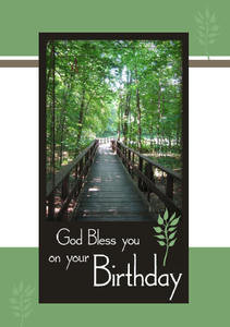"God Bless You On Your Birthday 5"" X 7"" KJV Greeting Card"