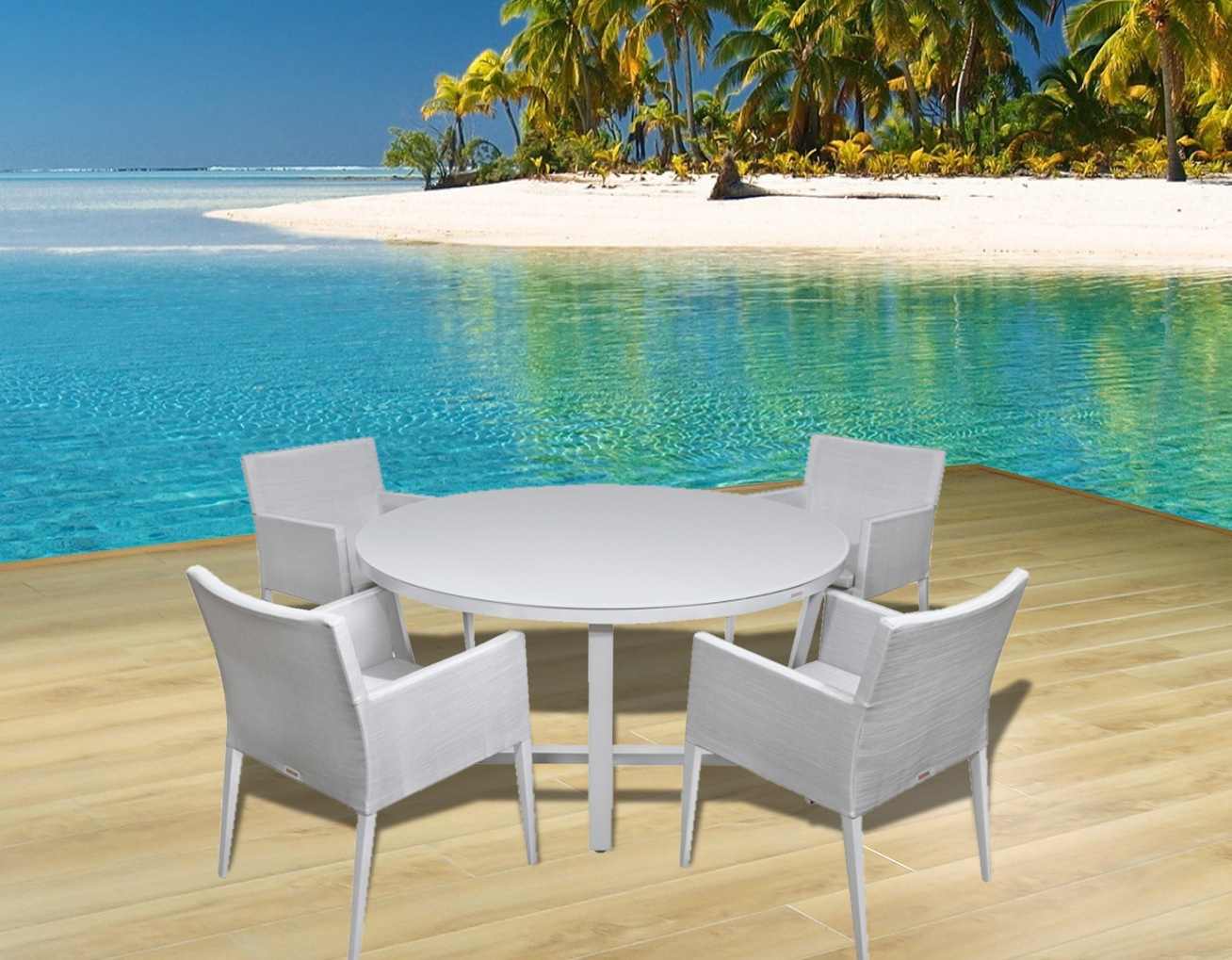 Beach Dining Chairs Modern Outdoor Patio Furniture Dining Sets Contemporary