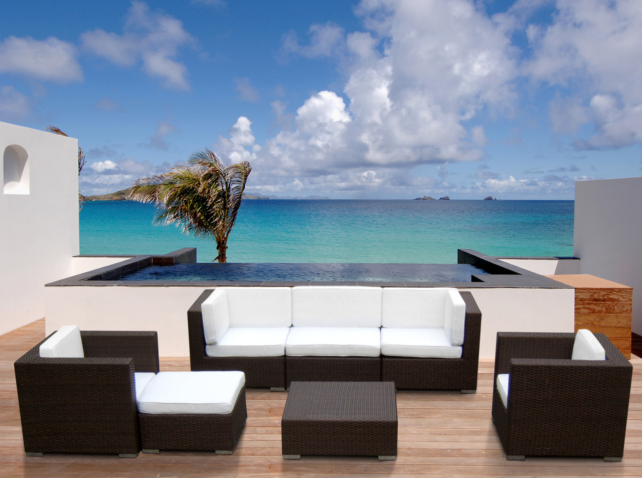 7pc Outdoor Sectional Set Free Shipping