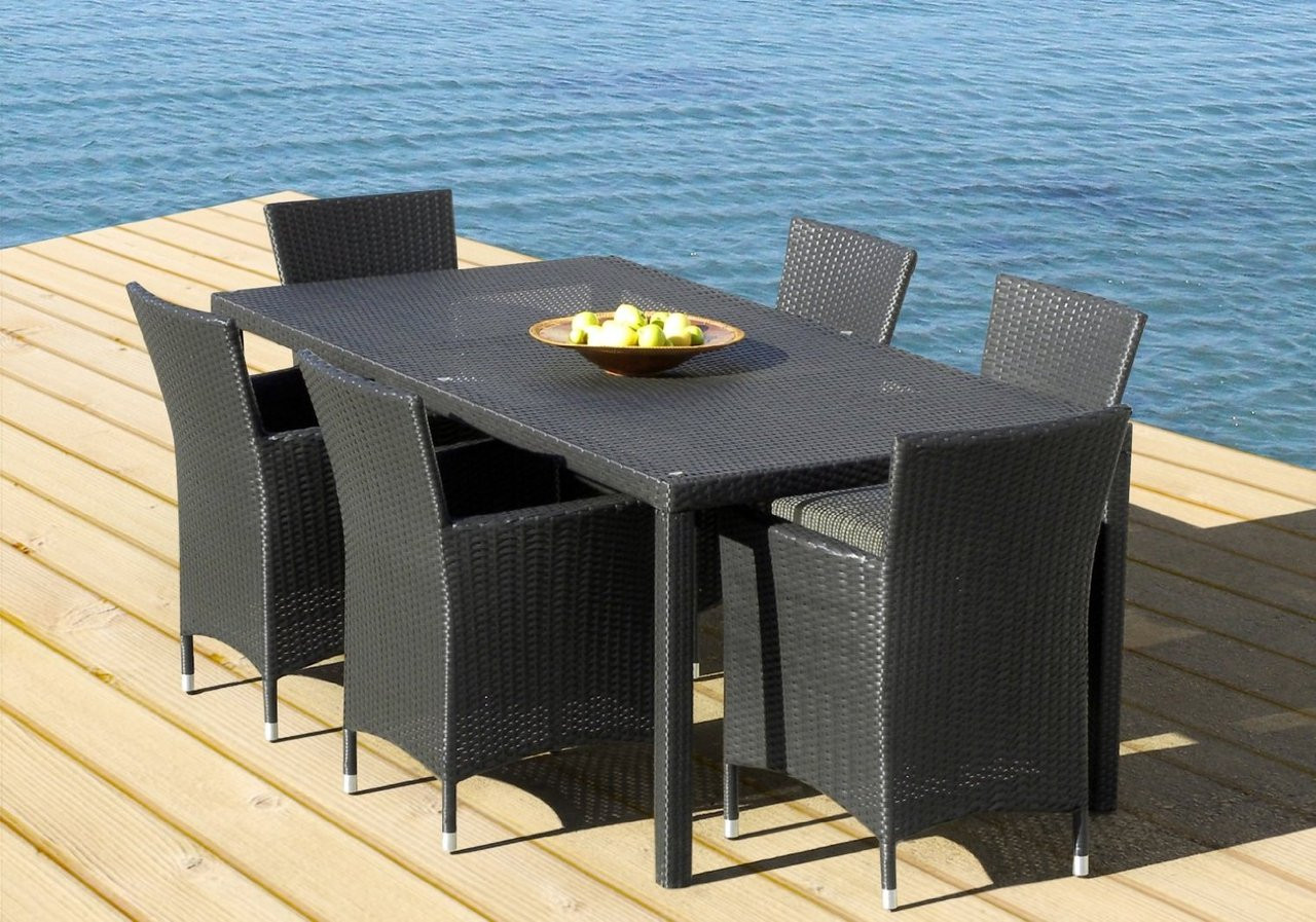 Outdoor Patio Wicker Furniture Weather Resin 7-piece