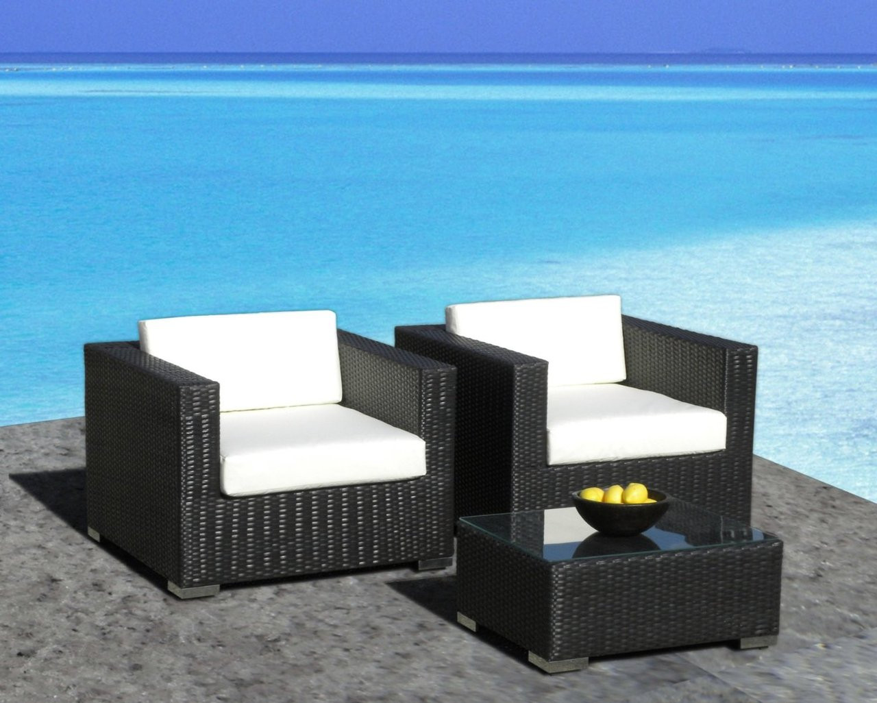 Outdoor 3pc Arm Chair Set Free Shipping