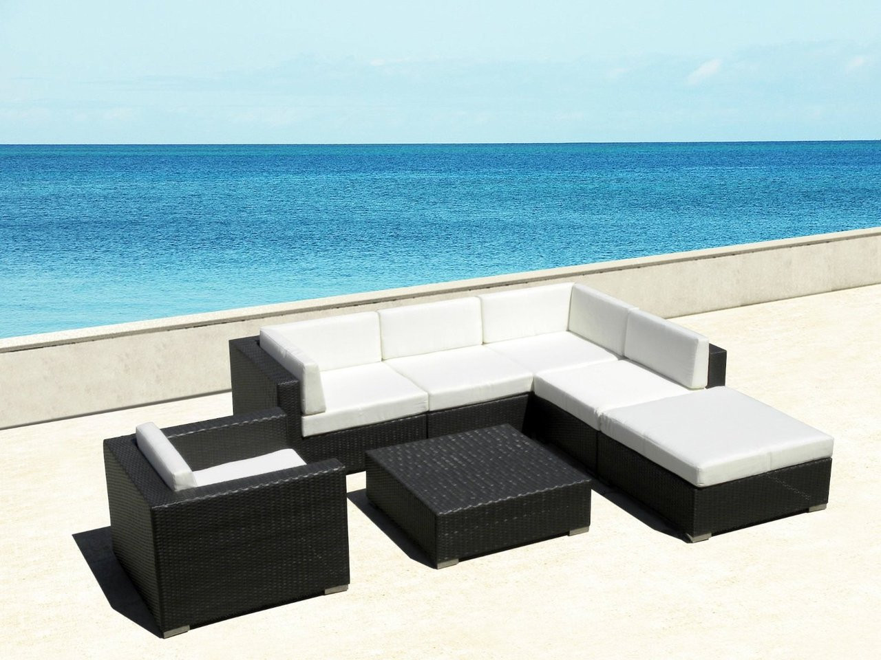 montclair all weather wicker sectional sofa set brown leather color restoration outdoor 7pc i shop now free shipping