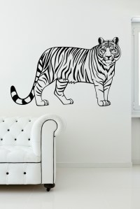 Tiger Jungle Animal Vinyl Wall Art Wall Decal Stickers for ...