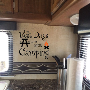 Best Days Spent Camping Family Wall Stickers Vinyl