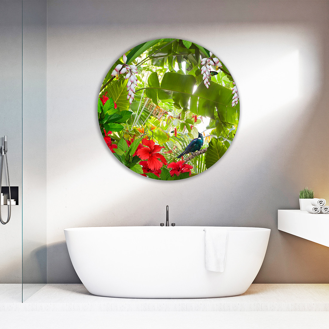 Tui Paradise 500mm To 1200mm Dia Round Aluminium Or Glass Bathroom Art Creative Nz Photography Art By Lucy G