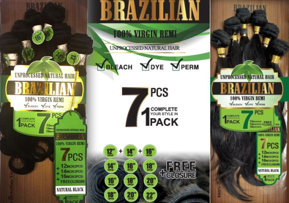 Amy Unprocessed Brazilian Remy Human Hair 7pcs S Body