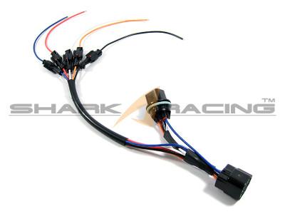 Hyundai Kia Headlight Wiring Harness Adapter Set 6 Pin Shark