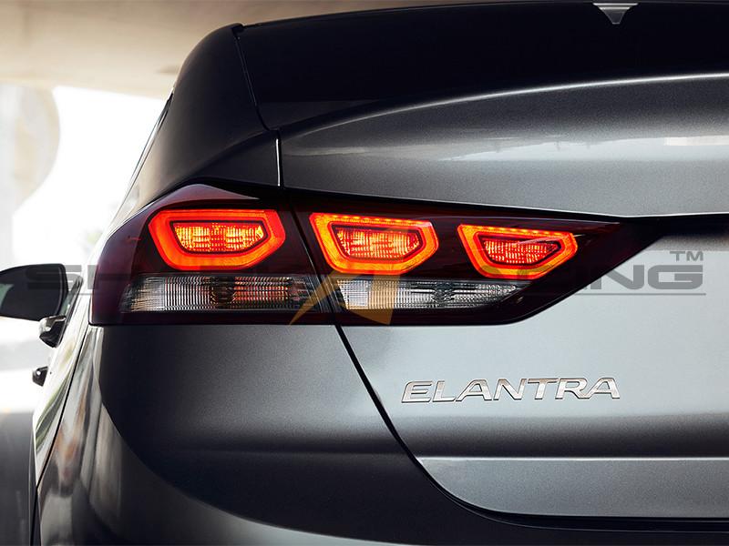2017 Elantra Factory OEM LED Tail Lights Shark Racing