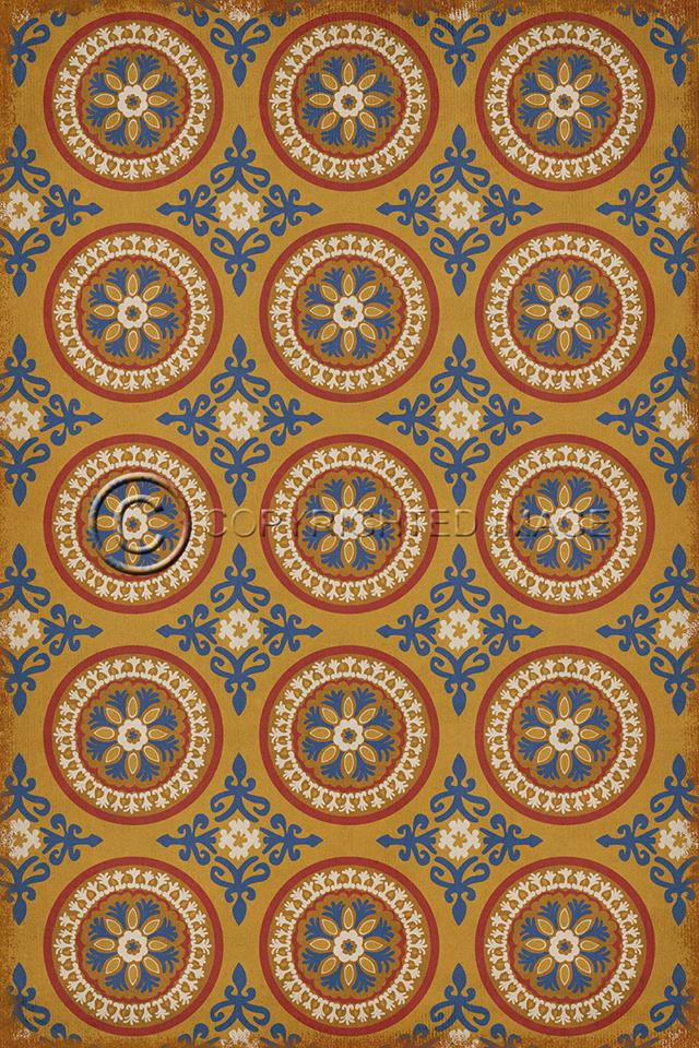 Four brand new Vintage vinyl floor cloths now available