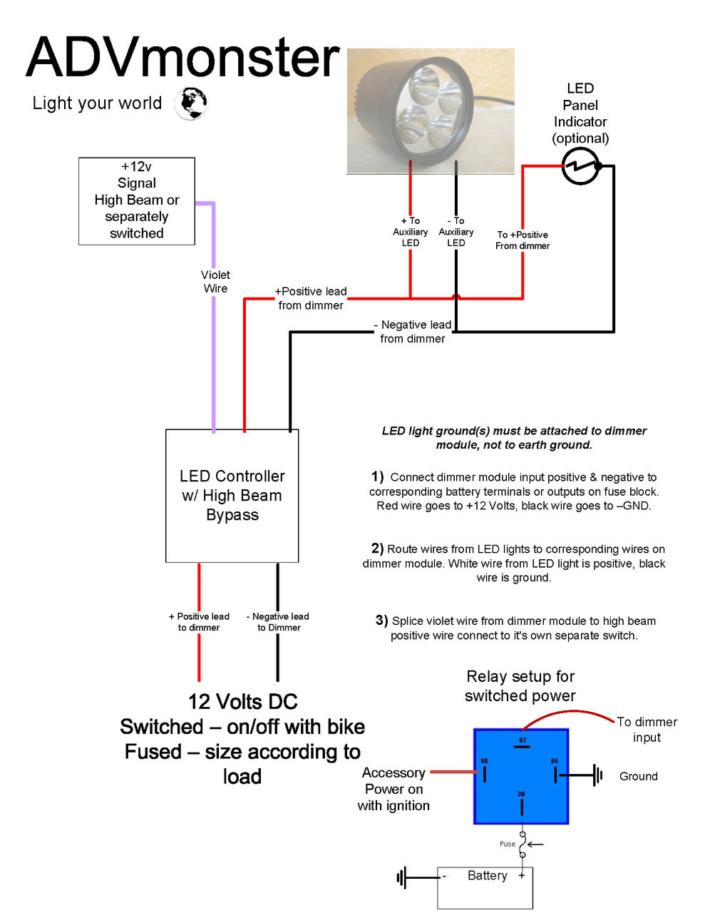 recommended wiring diagram with led controller [ 989 x 1280 Pixel ]