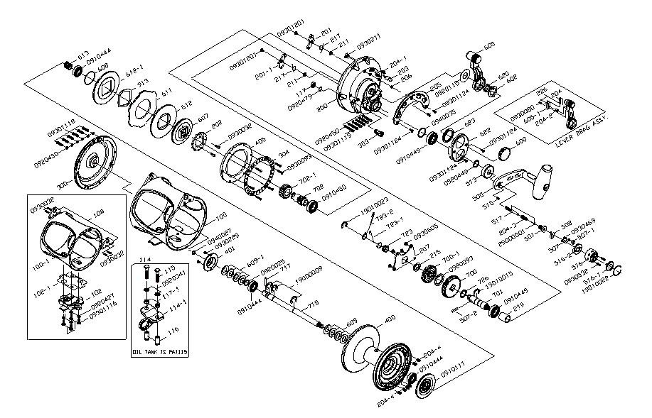 Daiwa Reel Parts Diagram