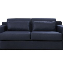 Pull Out Bed Sofa Old Leather Company Lunar Dark Blue Online Furniture
