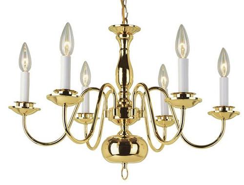 6 Light Williamsburg Chandelier 10061
