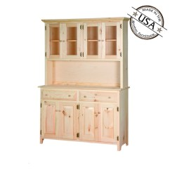 Unfinished Pine Kitchen Cabinets Cabinet Organizers Large Buffet Server And Hutch