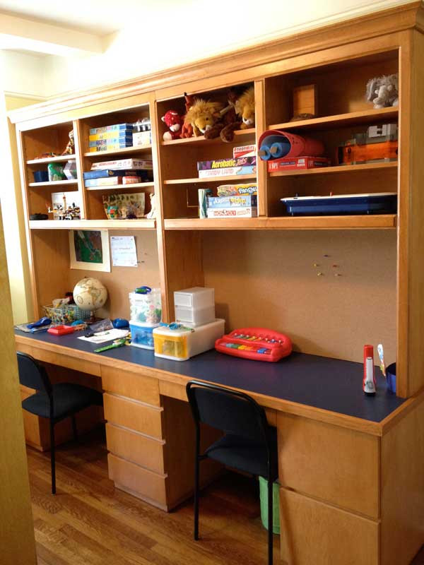 CUSTOM  Double Office Desk and Hutch