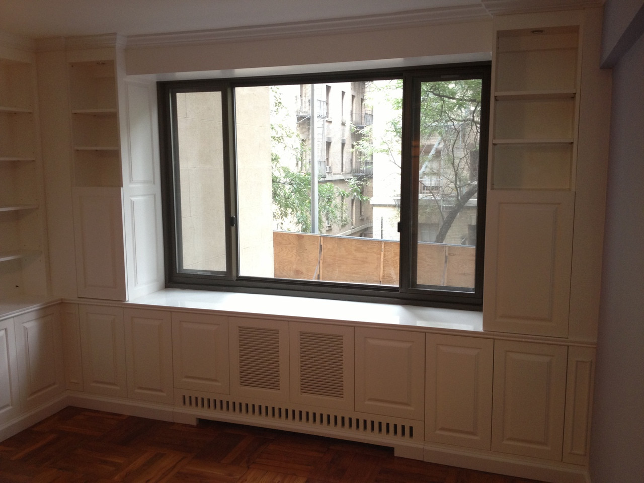 CUSTOM Built In Wall Unit With Radiator Cover