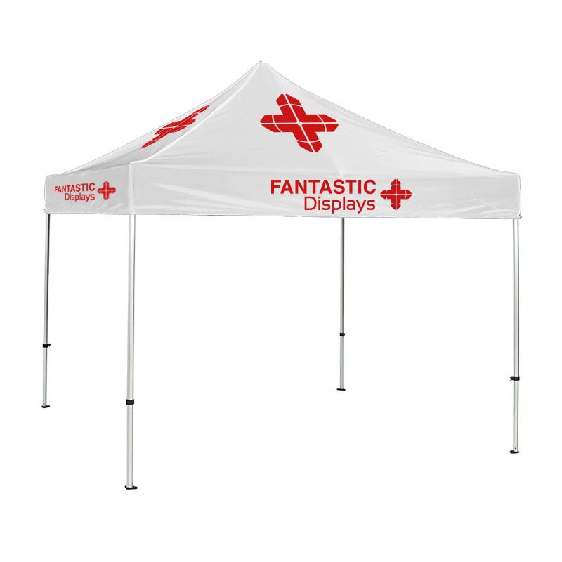 Trade Show Canopy 10x10 Tent Custom Logo - White